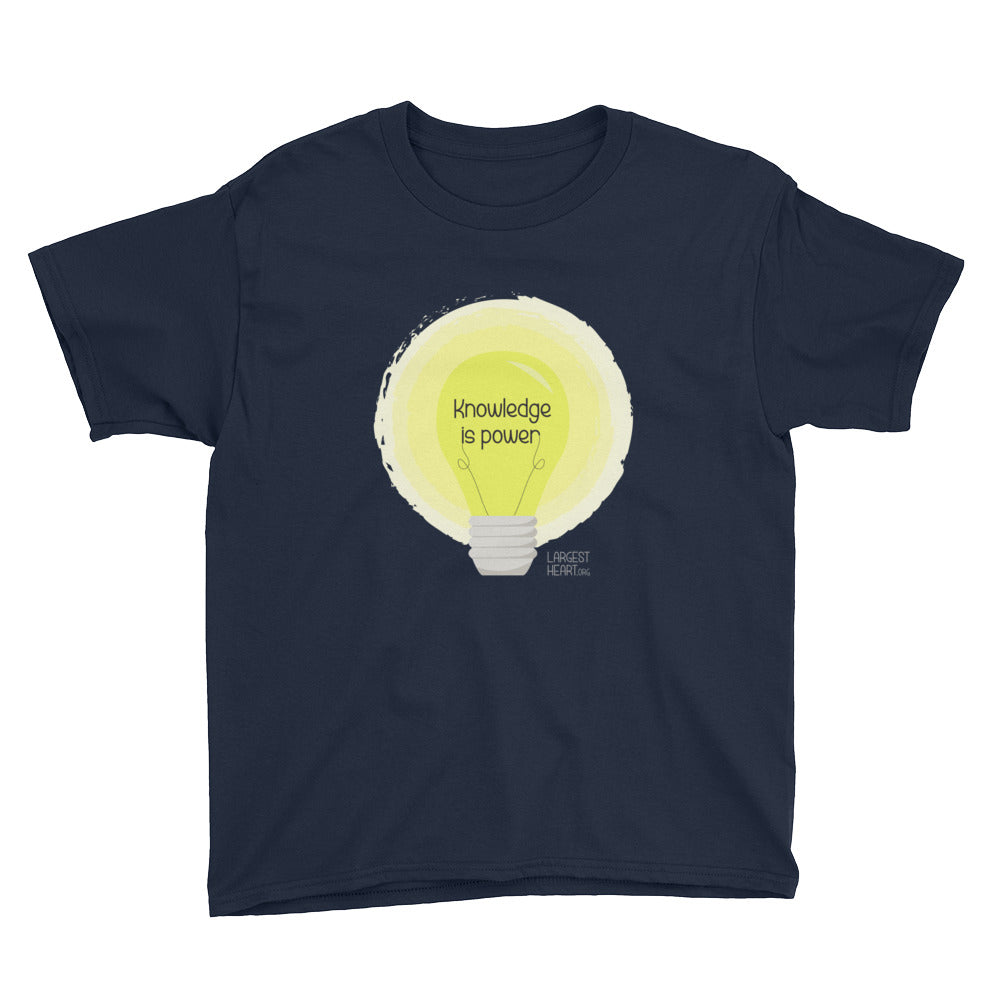 Youth Short Sleeve T-Shirt - Knowledge is Power