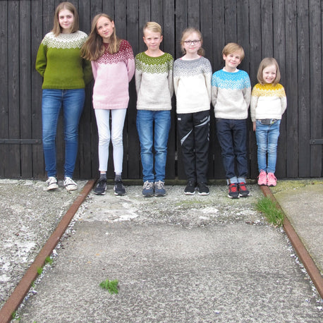 Bohéme wool sweater for kids