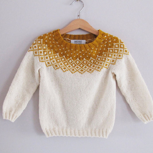Bohéme wool sweater for babies
