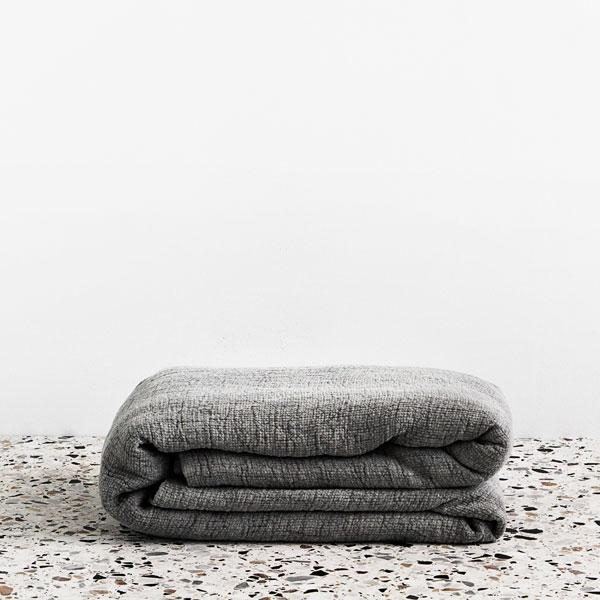 george street linen pure linen blanket in white or fog. Shop online or at blake street auckland stockists ponsonby
