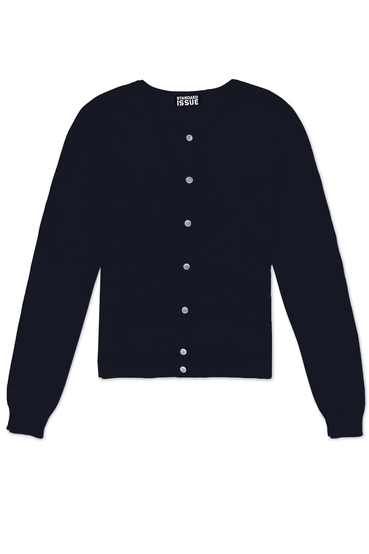 Standard Issue crop crew cardi Knitwear Stockists Auckland Made in New Zealand NZ Designer Clothing