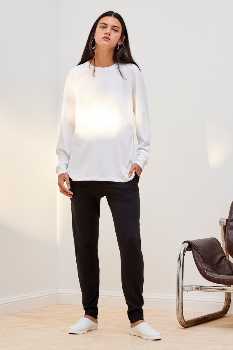kowtow building block boyfriend top white organic cotton ethical clothing NZ designer stockists Auckland ponsonby