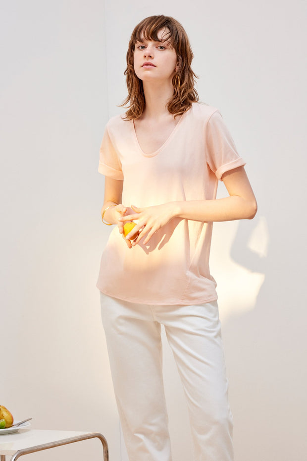 kowtow building block v tee ethical organic fairtrade cotton NZ Designer stockists new zealand fashion shop online ponsonby