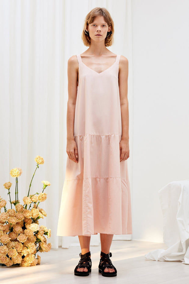 kowtow element dress blush organic cotton ethical clothing stockists Auckland Ponsonby