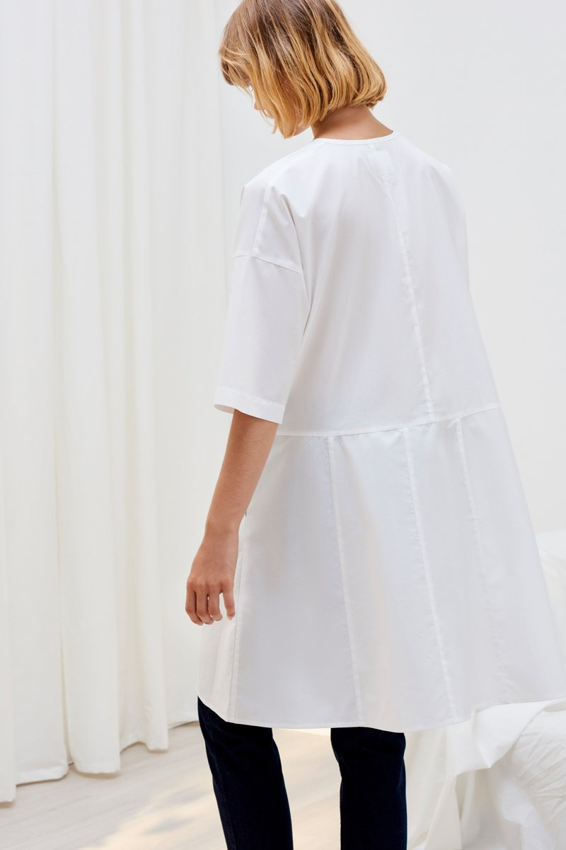 Kowtow reflection dress navy check and white organic cotton ethical clothing stockists Auckland Ponsonby
