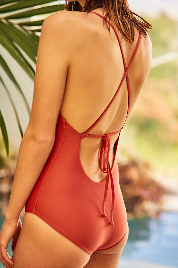 kowtow tie back one piece swimwear econyl organic cotton ethical clothing stockists Auckland Ponsonby
