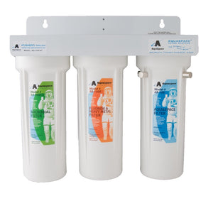 AQUARIUS TRIPLE PLUS™ with Fluoride-Heavy Metal & Microbial Reduction & Hydrating Magnets - Under the Sink Filter