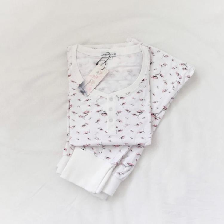 Womens Poppy print Pyjama Set