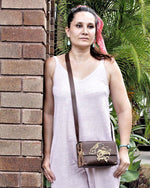 Small Rumi Genuine Leather Shoulder Bag (Brown Colour Available!!!) - Treasures of Silk Road