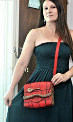 Genuine Leather and Wood Shoulder Bag ( Four Colours)