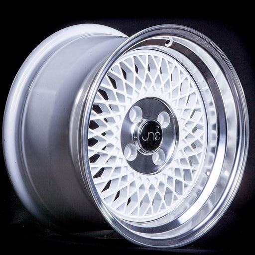 JNC031 White Machined Lip - JNC Wheels