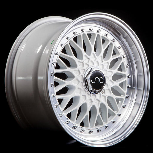 JNC004 White Machined Lip - JNC Wheels