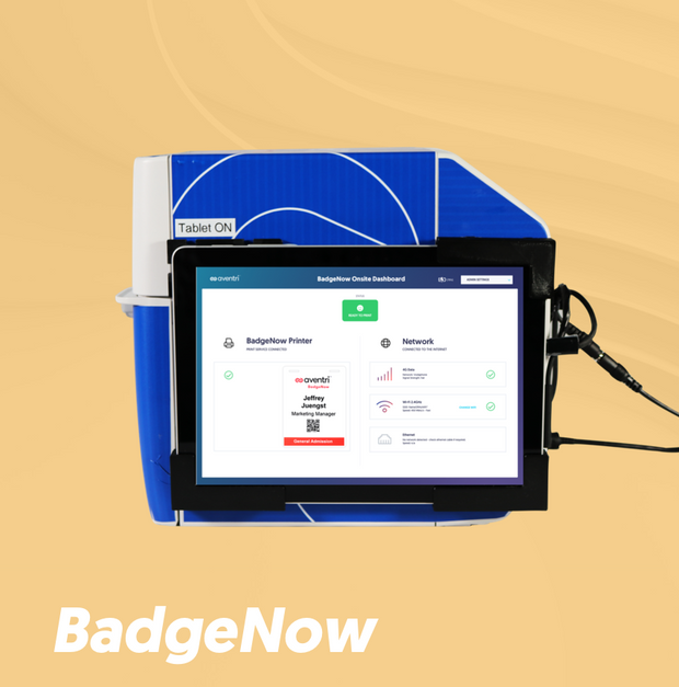 BadgeNow is the only stress-free professional badge printer for simple events.