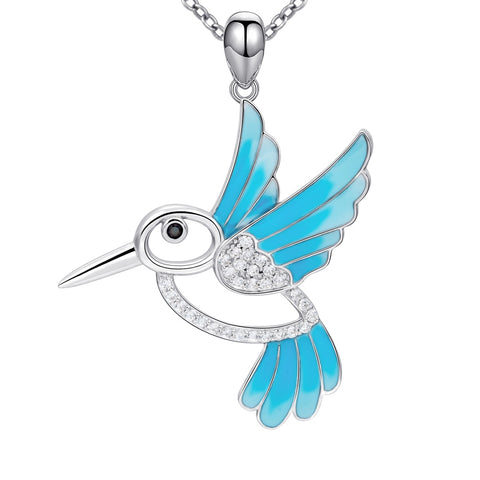 Silver Chain Blue Bird Necklace & Pendant - Pets Utopia