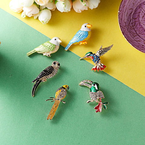 Woodpecker Dragonfly Swallow Insects Shaped Brooch Pin - Pets Utopia