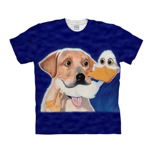Funny Dog & Duck T-Shirt - Pets Utopia