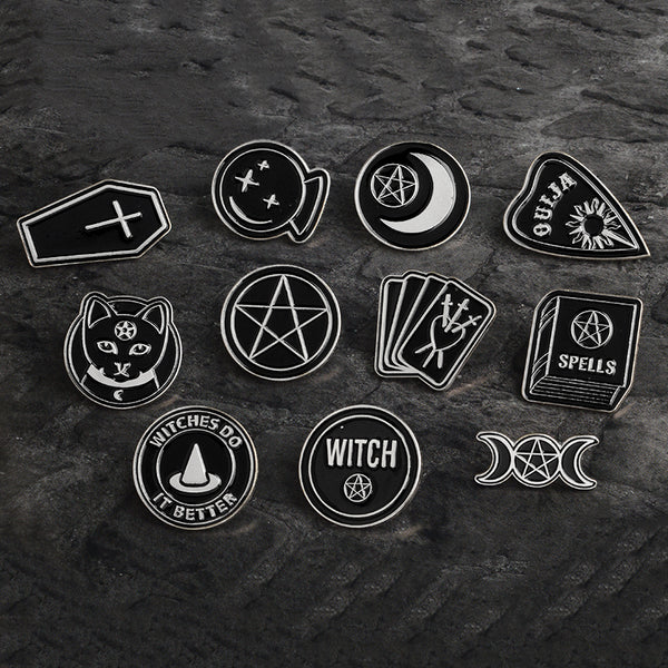 Witch Pin Badge Sets - Set 2