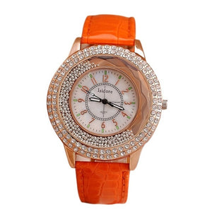 Stunning Rhinestone Ladies Leather Watch