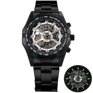 T - Winner Mens Skeleton Automatic Mechanical  Watch