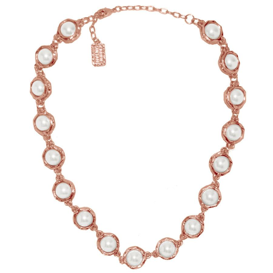 Rose Gold Pearls Necklace