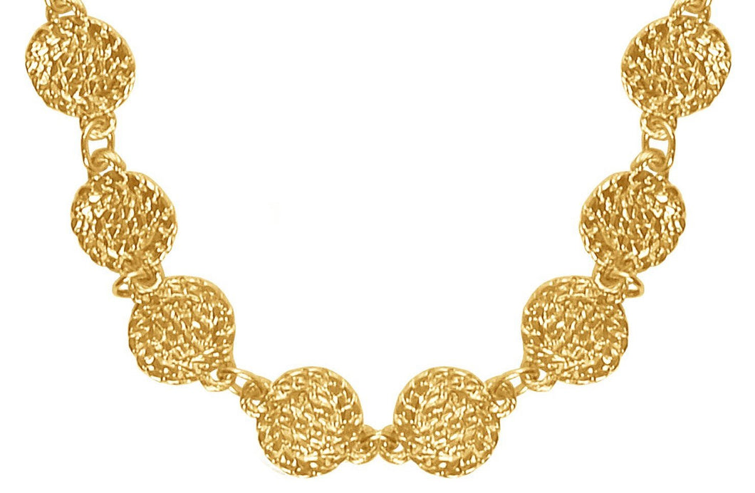 Quinn Coin Long Necklace in Gold
