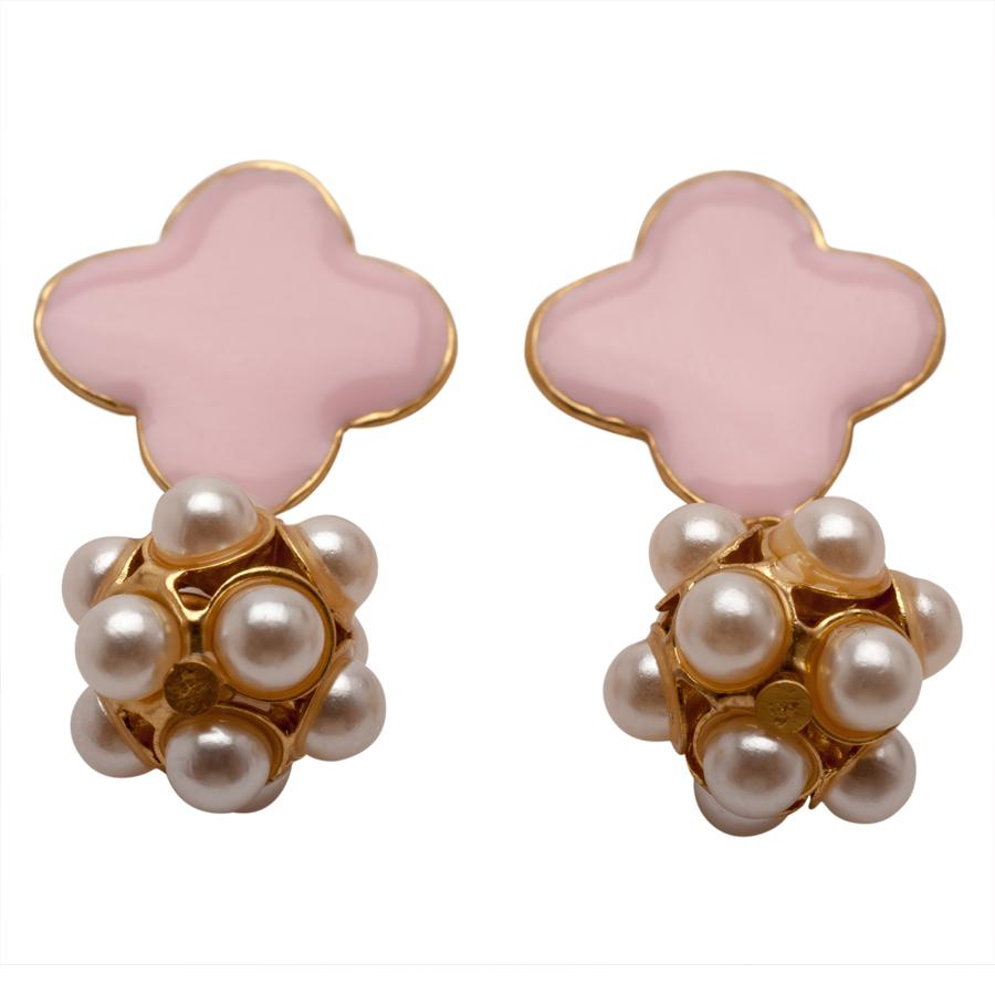 Pretty in Pink and Pearls Earrings