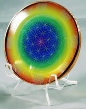 Load image into Gallery viewer, Rainbow Flower of Life Home Energy Disk