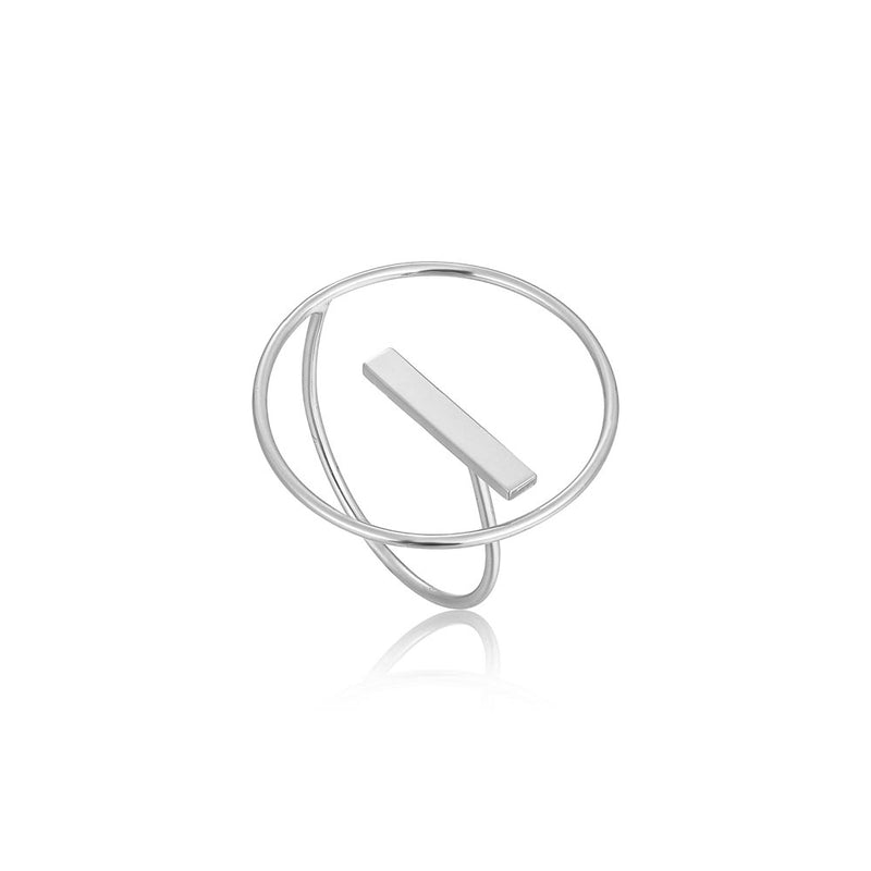 Modern Circle Adjustable Ring - Ania Haie Jewellery