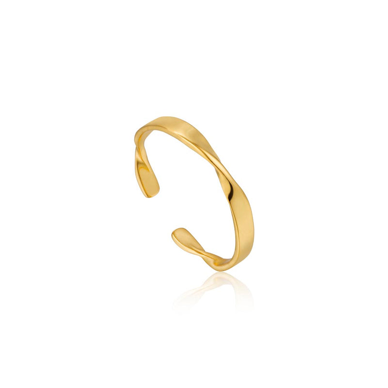 Helix Thin Adjustable Ring - Ania Haie Jewellery