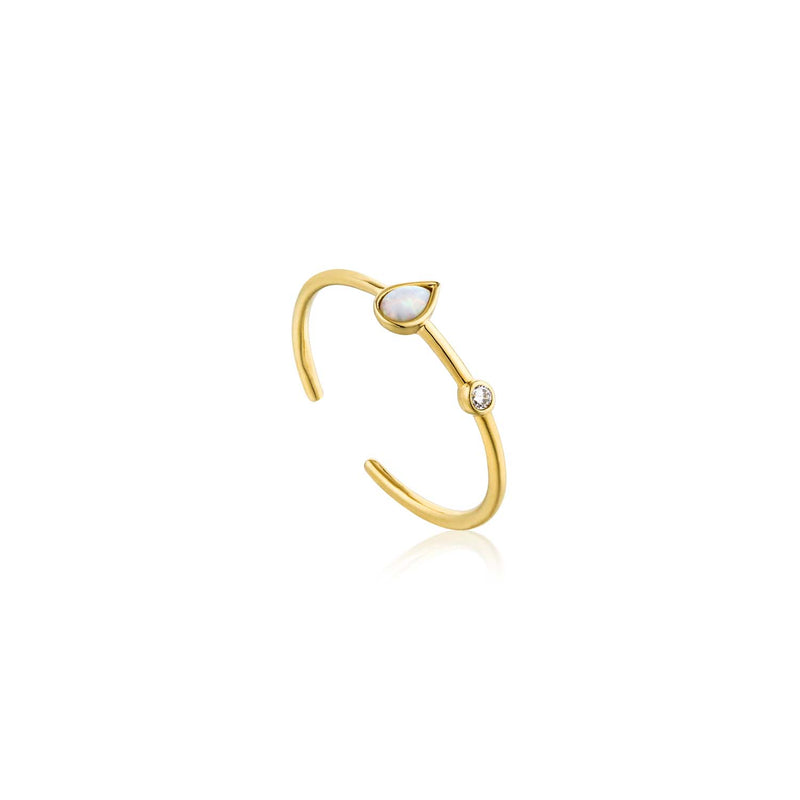 Opal Colour Raindrop Adjustable Ring - Ania Haie Jewellery