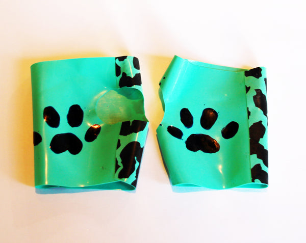 Pastel Latex Kitty Paw Print Gloves