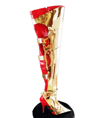 Gold XXX Armor Boot Covers