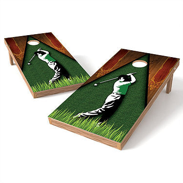 Official Size 2x4 Golf Swing Wood Cornhole Game