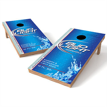 Official 2x4 Bud Light Label Cornhole Game