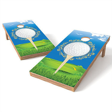 Official Size 2x4 Tee Time Golf Cornhole Game