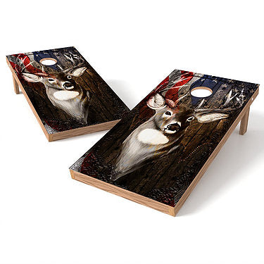 Official Size 2x4 Buck Whitetail Deer Cornhole Game