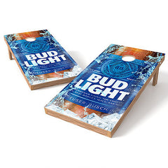 Image of Official Size 2x4 Bud Light Bottle Cornhole Game