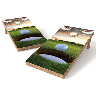 Official Size 2x4 Golf on the Edge Cornhole Game