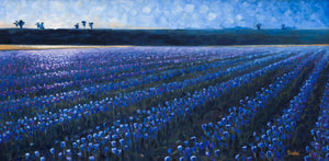 The Dawn - Hand embellished giclee on canvas limited edition 15x30in