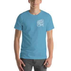 """Living Water"" Blue DAT Logo Short-Sleeve Unisex T-Shirt"