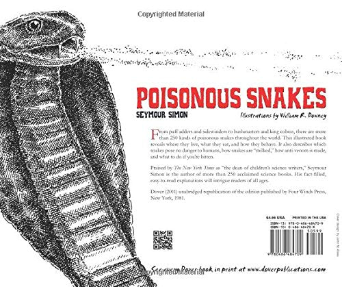 Poisonous Snakes (Dover Children'S Science Books)