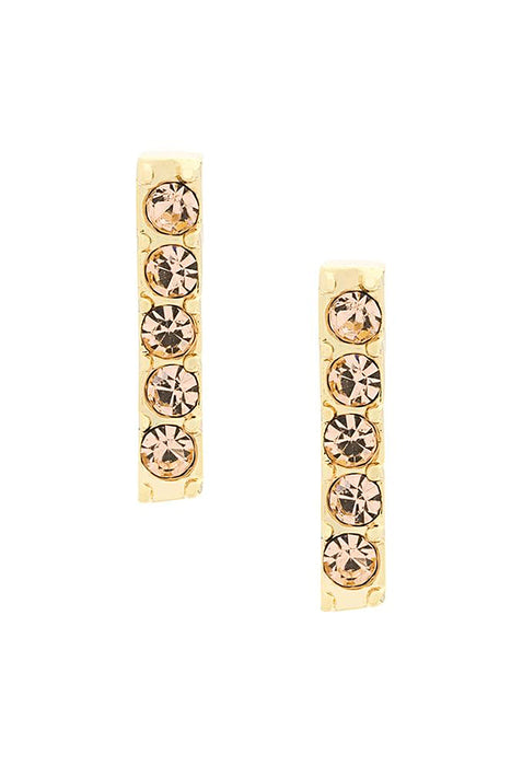 Earrings Lobo Line Mini Gold