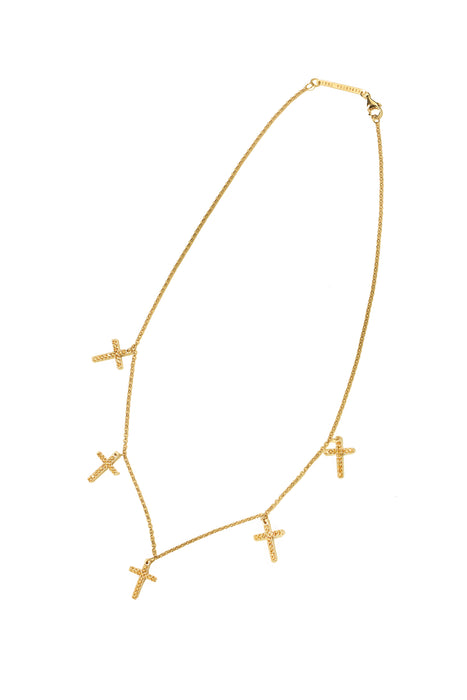 Lace Faith Mini Necklace Gold