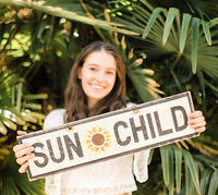 Sun Child Personalized Wood Sign