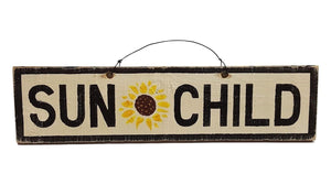 Sun Child w/ sunflower wood sign | Weathered Signs