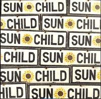 Sun Child Sign Collage | Weathered Signs