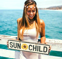 Sun Child Sunflower Wood Sign | Weathered Signs Custom Sign