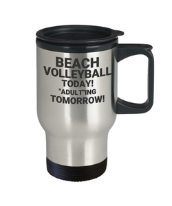 "BEACH VOLLEYBALL TODAY! ""ADULT""ING TOMORROW!"