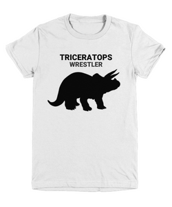 Triceratops Wrestler Youth T-Shirt