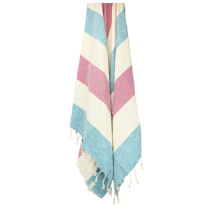 County Line Beach Peshtemal Towels - 100% Turkish Cotton Sand Resistant Stylish - San Diego